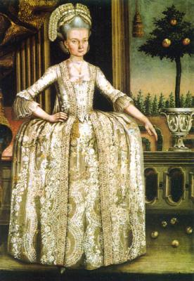 Mertz János: Portrait of Mrs. Earl Apponyi Antal