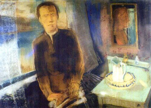 Aurél Bernáth: Self-portrait in front of a window