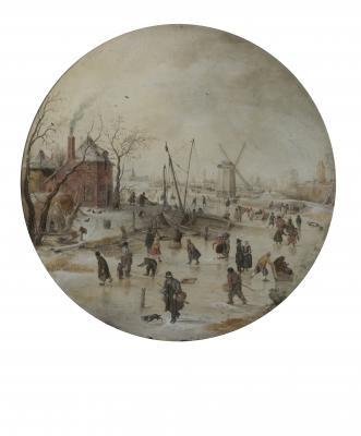 Hendrick Avercamp: Téli táj korcsolyázókkal