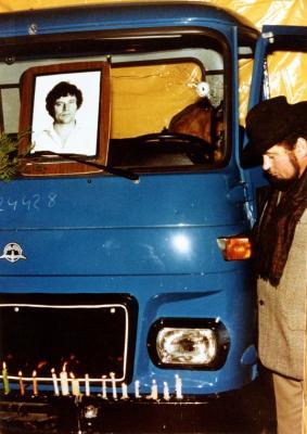 Tóth Sándor Avia típusú teherautója, 1989. december 23.