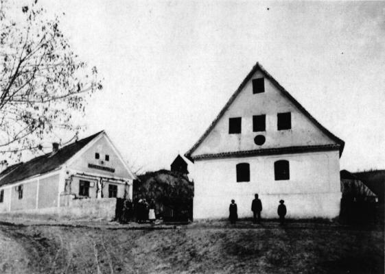 Ráchidas evangélikus templomának homlokzata, 1787-1912