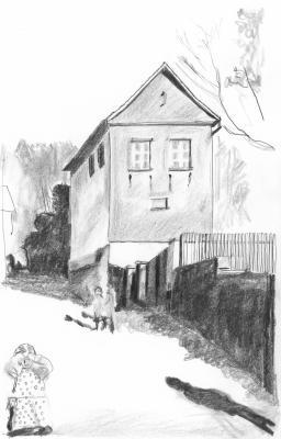 Forgách András rajza Nádas Péter regényéhez
