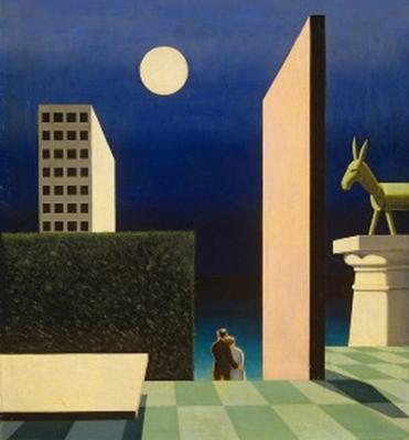 Bortnyik Sándor (1893-1976): Zöld szamár (1924) vászon, olaj, 60x55 cm, a Magyar Nemzeti Galéria tulajdona