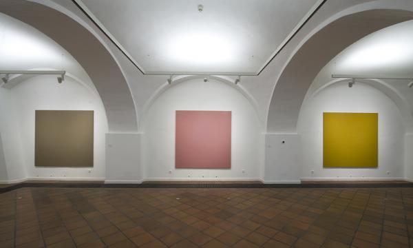 Gál András: Triptych három részből, 2012, olaj, vászon, egyenként 197×191 cm