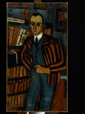 Czóbel Béla: Meyer úr arcképe, 1921