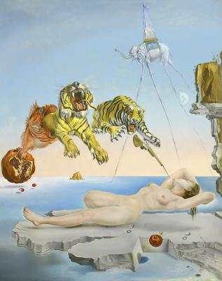 Salvador Dalí: Álom, melyet a gránátalma körül repkedő méh váltott ki egy pillanattal az ébredés előtt