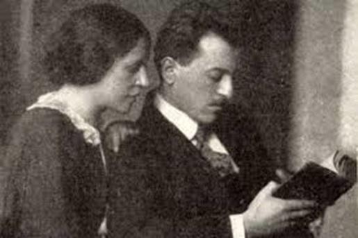 A művészpár: Galimberti Sándor és Dénes Valéria