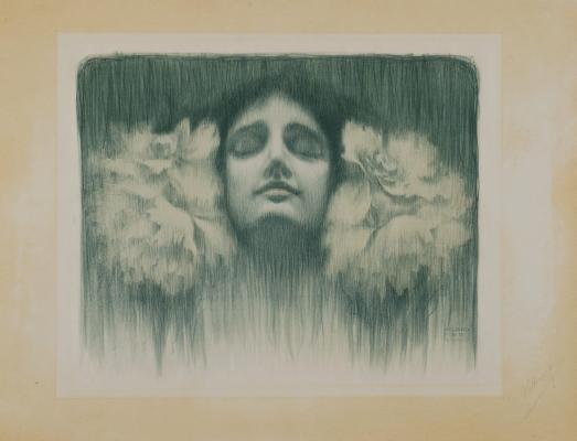 Helbing Ferenc: Álom, 1902, egyszínnyomású litográfia