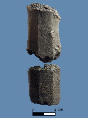 Iharosban talált harangfül-töredék