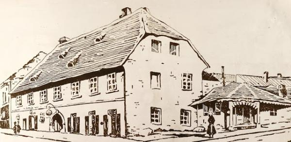 A Magyar Korona épülete Pécsett (Kálmándy Pap László, 1942)