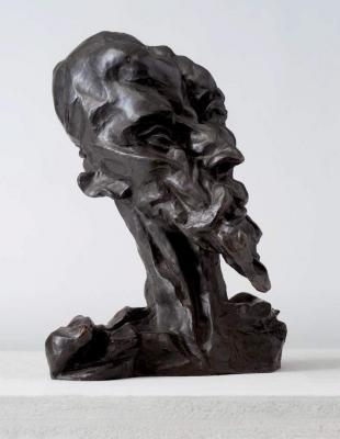 Otto Gutfreund: Don Quijote, 1911-1912, bronz, magasság: 38 cm. A Muzeum umění Olomouc tulajdona