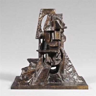 Otto Gutfreund: Kubista fej, 1913-14