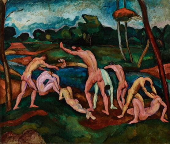 Perlrott Csaba Vilmos (1880-1955): Fürdőző  fiúk, 1911