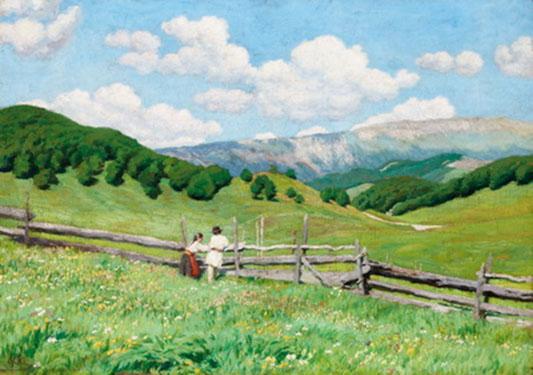 Glatz Oszlár (1872-1958): A román határnál, 1900 körül