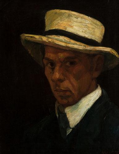 Czigány Dezső (1883-1937): Szalmakalapos önarckép, 1906