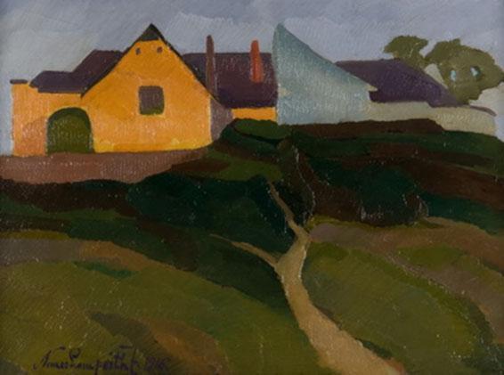 Nemes Lampérth József (1891-1924): Tabáni részlet, 1916