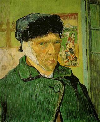 Van Gogh: Bekötött fülű önarckép, 1889