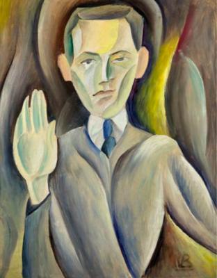 Síró szemű önarckép. 1926, vászon, olaj, 74x56 cm. A Muzeul de Arta Recenta (Bukarest) tulajdona.\r\n\r\n